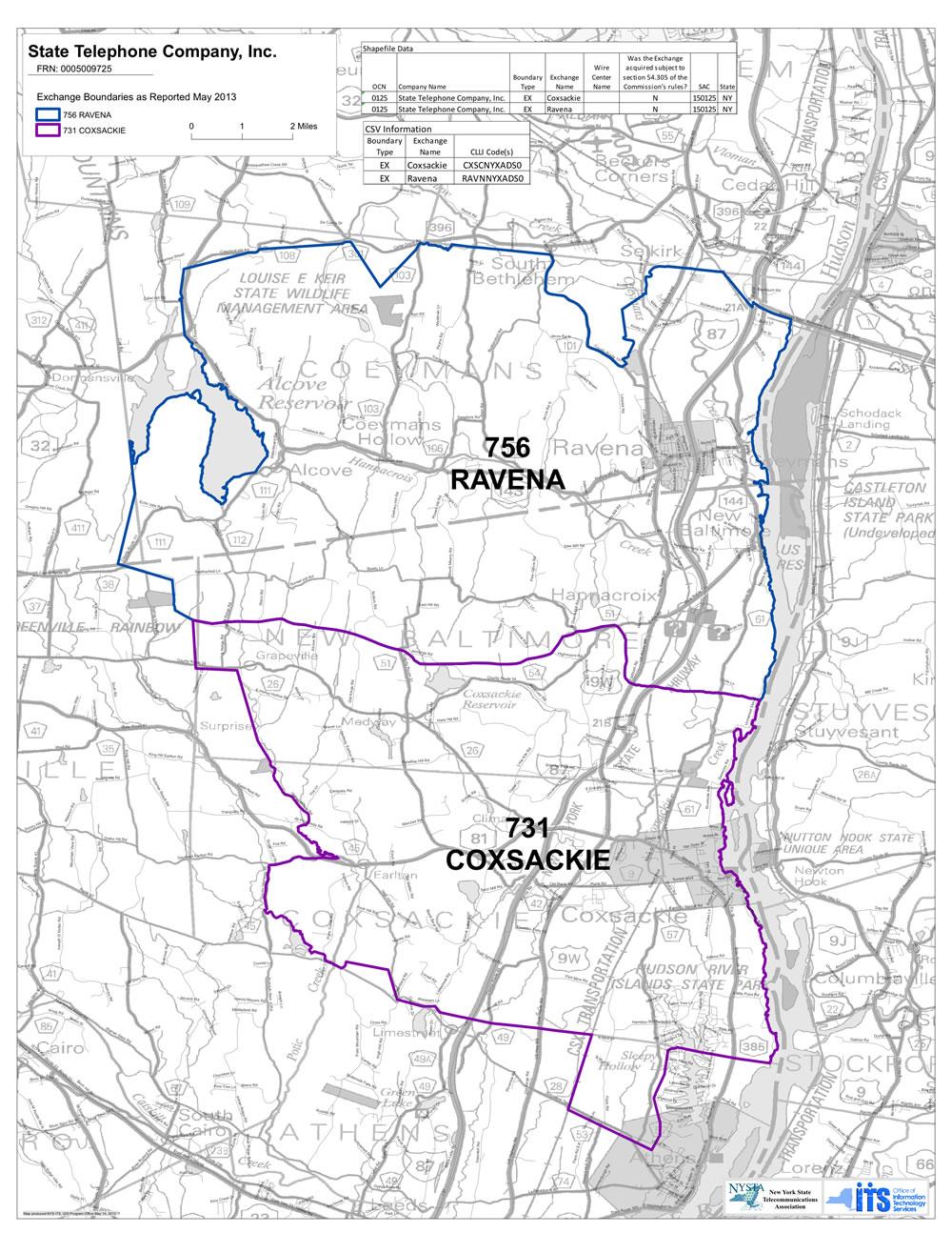 Phone Service Area Map